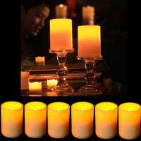 Battery Powered Flameless LED Table Lamp Candle Flickering Tea Light Christmas Wedding Home Decor