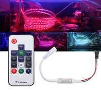 DC5-24V Mini 14 Keys RF Wireless Remote Controller For WS2811 WS2812B 5050 RGB LED Strip Light