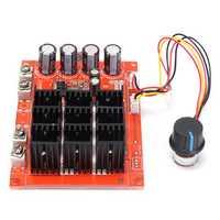 DC 10~50V 60A 3000W Driver Module PWM Motor Speed Controller 12V 24V 48V