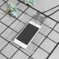Universal Fashion Transparent Women Cross Body Shoulder Bag for iPhone Xiaomi Mobile Phone