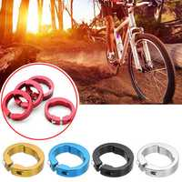 BIKIGHT 4 Pcs 12mm Bike Handlebar Lock Aluminum Alloy Bar Grips Locking Rings Bike Accessories