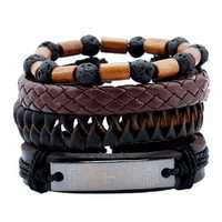 Vintage Bible Cross Multilayer Cowhide Leather Bracelets