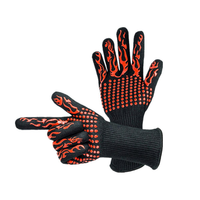1 Pair 932°F Heat Resistant Barbecue BBQ Grill Gloves Oven Baking Cooking Glove For Men Women