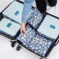 Honana HN-TB37 6Pcs Set Travel Luggage Storage Bag Portable Suitcase Clothes Organizer