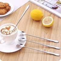 Stainless Steel Gourd Shape Long Handled Spoon Coffee Stirring Spoon Multifunction Dining Tools