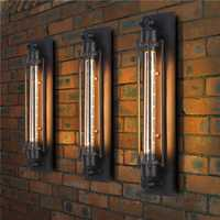E27 Vintage Industrial Edison Wall Lamp Bulb Retro Applique Decor for Cafe Corridor AC220V