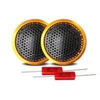1 Set High-end Wired Car Tweeter 1 Inch 40W PZ-G25 Speaker Bass Sound Lightweight Loudspeaker