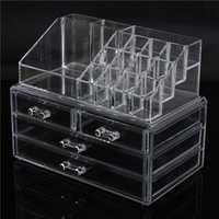 4 Drawer Acrylic Clear Make Up Organizer Cosmetic Display Nail Polish Storage Holder