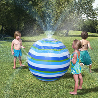 75cm Children Summer Inflatable Water Spray Environmental Balls Outdoor Sport Swimming Party Toys
