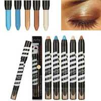 6 Colors High Light Eye Shadow Pencil Pen Glitter Eyeshadow Stick