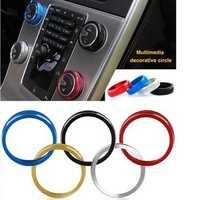 1pcs Car Alu Decorative Covers Stereo A/C Knob Circles Ring for Volvo S60 V60 XC60 S60L S80 V40
