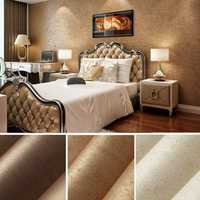 10m Wall Sticker Wave Stripe Non-Woven Crescent Flocking Wallpaper Home Bedroom Living Room Decor