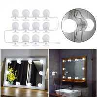 12Pcs Makeup Mirror Vanity LED Light Bulbs LED Gadgets Kit for Dressing Hollywood Super Star