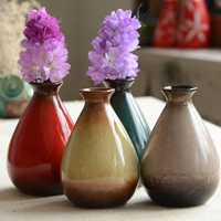 Multi-color Flower Vase Ceramics Bottle Creative Home Interior Decoration