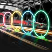 Eachine LED Flash Racing Circle Crossing Through Door Track with Hour Meter Timer for E013 Plus FPV Racer Drone