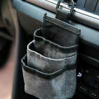 Oxford Car Air Vent Storage Bag Sundries Storage Bucket Hanging Pocket Pouch