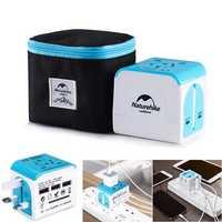 Naturehike NH18P001-J 100V-240V Travel Power Adapter Universal USB Electric Converter US Euro UK AU Plug For iPhone iPad