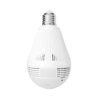 Hiseeu 960P 1.3MP Bulb Light Wireless IP Camera Panoramic VR CCTV Home Security WiFi Camera