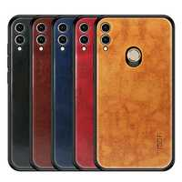 Mofi Shockproof PU Leather Pattern Soft TPU Back Cover Protective Case for Huawei Honor 8X