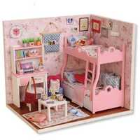 Diy Miniature Wooden Doll House Furniture Kits Handmade Craft Model Toys Gift For Children