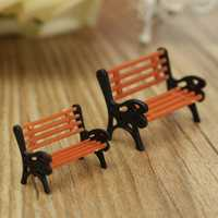 Miniature Plastic Deck Chair Moss Micro Landscape DIY Decorations