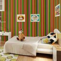 Waterproof Stripe Wallpaper Self Adhesive Wardrobe Door Kitchen Wall Stickers