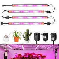 AC100-240V 24W Red:Blue 4:1 LED Grow Rigid Strip Light IP65 Plant Garden Greenhouse Flower Lamp