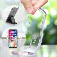 HOCO 2PCS Transparent + Black Powerful Sticky Gel Pad Wall Holder Car Mount for Xiaomi Mobile Phone