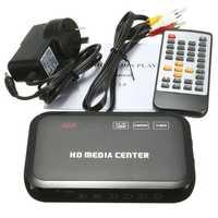 Full HD 1080P HD VGA Media Video Player RM RMVB MKV With Remote Controller Black