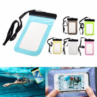 Universal Waterproof Pouch Bag With Lanyard For iPhone 6s Plus Samsung HTC Huawei Xiaomi