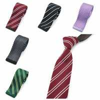 PenSee Men's Neckties Twill Plaids Slim Skinny Knitting Leisure Accessory Ties