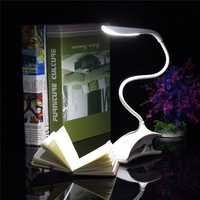 Dimmable USB Rechargeable Touch Sensor LED Clip on Table Desk Lamp