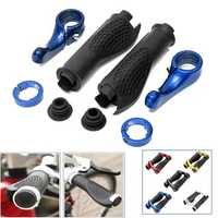 BIKIGHT Anti-slip Rubber Aluminum Alloy Bicycle Handlebar Grips Human Mechanics Design