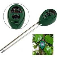 3 in1 PH Garden Soil Tester Professional LCD Temperature Moisture Sunlight Meter