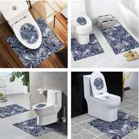 Bathroom Toilet Special 3 Pcs Set PVC Waterproof for 2 Styles Non-slip Wear Resistant Stickers