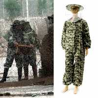 BeeKeeping Suit BeeKeeper Protective Equipment Veil Hat Smock Full Body Camo