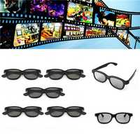 5 Pcs Passive Polarized 3D Glasses For Panasonic LG Sony Samsung 3D TVs Monitor 3D Film Movie