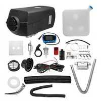 12V 8kw Diesel Air Heater Parking Heater Kit LCD Switch with 10L Tank & Silencer & Remote Control