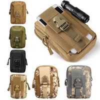 Outdoor Tactical Waist Belt Bag Camping Hiking Pouch Wallet Phone Fanny Pack
