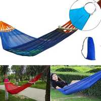 IPRee® Portable Ice Silk Hammock Max Load 100/300kg Outdoor Camping Beach Hanging Swing Bed