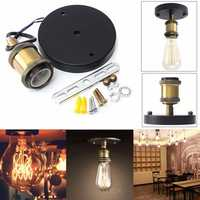 E27 Vintage Retro Industry Edison Ceiling Rose Light Holder For Rustic Wall Lamp Ignition Pear Bush