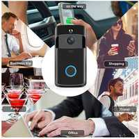 Wireless WiFi Video Doorbell Smartphone Remote Camera 2-way Audio Home Security Rainproof