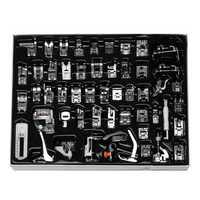 52Pcs Sewing Machine Snap Presser Foot Set Multifunctional Kit For Singer