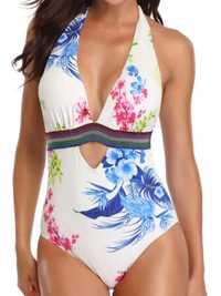 One-Piece Halter Printing Slim Ladies Swimwear