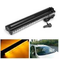 144W 6000K Car Strobe Beacon Lamp LED Emergency Warning Light Bar Amber