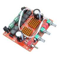 DC 12-24V 200W 3 Channel D Class 2.1 Digital Power Amplifier Board High Power Bass Speaker HIFI Fever Level Sound Quality