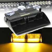 12V 16 LED Amber Recovery Strobe Warning Lights Magnetic Roof Flashing Beacon Car Work Lights