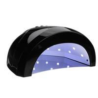 48W Black UV Led Lamp Nail Dryer Machine Time Setting