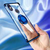 Bakeey Magnetic Car Holder Ring Holder Thin Color Plating Soft TPU Protective Case For Xiaomi Mi A2 / Xiaomi Mi 6X