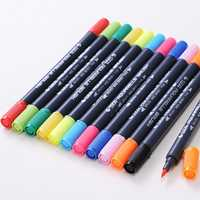 0.8 mm 12/24 Colors Pens Super fine Marker Pen Water Based Assorted Ink Arts Drawing For Children